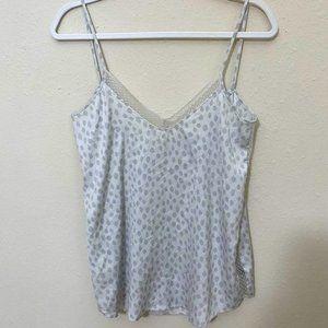 AERIE Snow Leopard Print Lace Trim Camisole XS